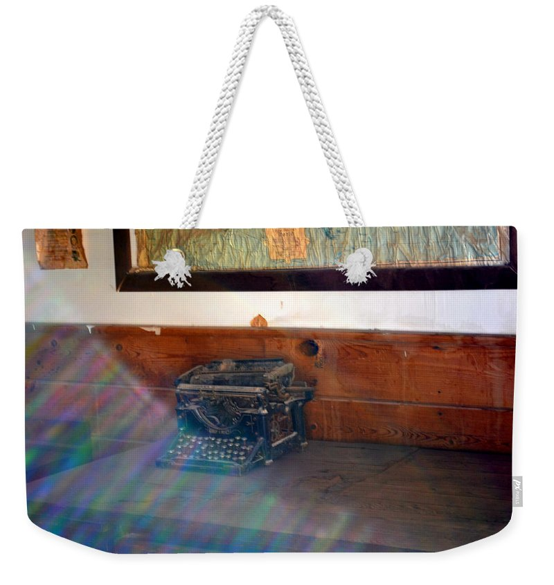 Old School House Weekender Tote Bag featuring the photograph A Moon Shadow by Diane montana Jansson