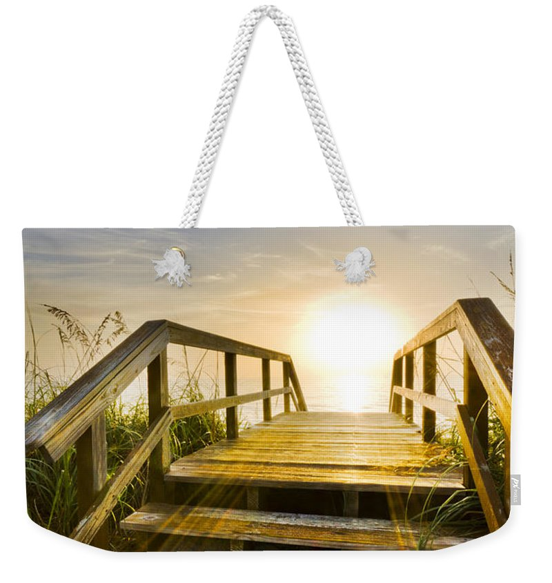 Clouds Weekender Tote Bag featuring the photograph A New Start by Debra and Dave Vanderlaan