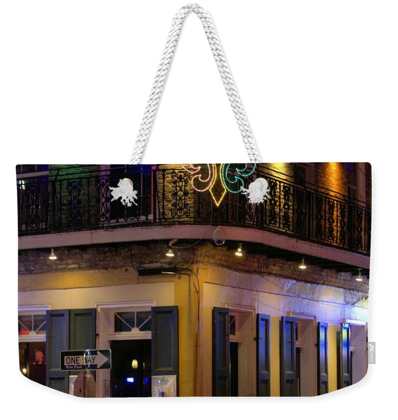 Lanscape Weekender Tote Bag featuring the photograph A Night In The French Quarter by Anthony Walker Sr