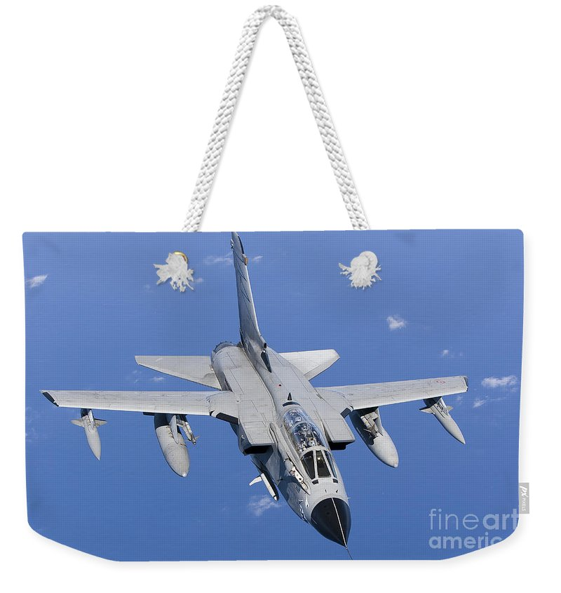 50 Stormo Weekender Tote Bag featuring the photograph A Panavia Tornado Ids Of The Italian by Gert Kromhout