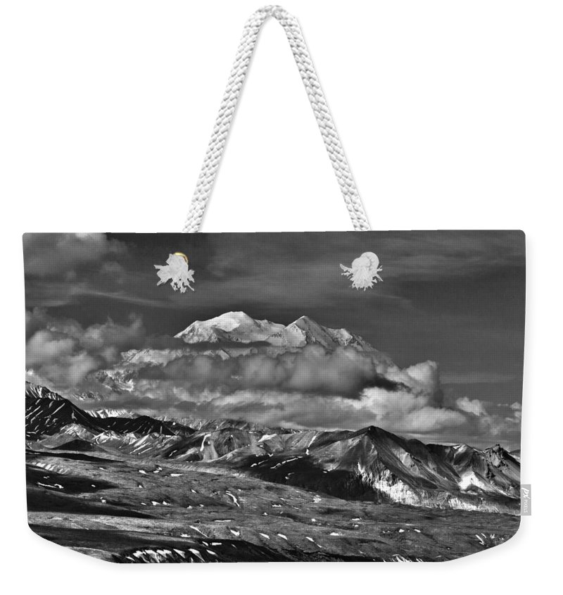 A Peek At Mckinley Weekender Tote Bag featuring the photograph A Peek At Mckinley by Wes and Dotty Weber