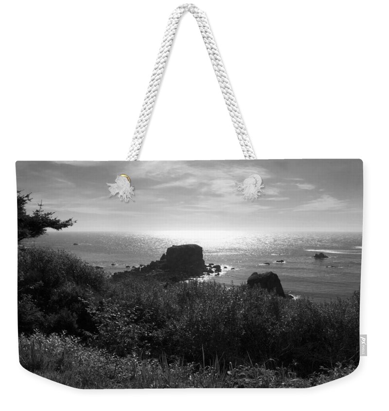 Coastal Weekender Tote Bag featuring the photograph A Perfect View Of Sunlight by Kathleen Grace