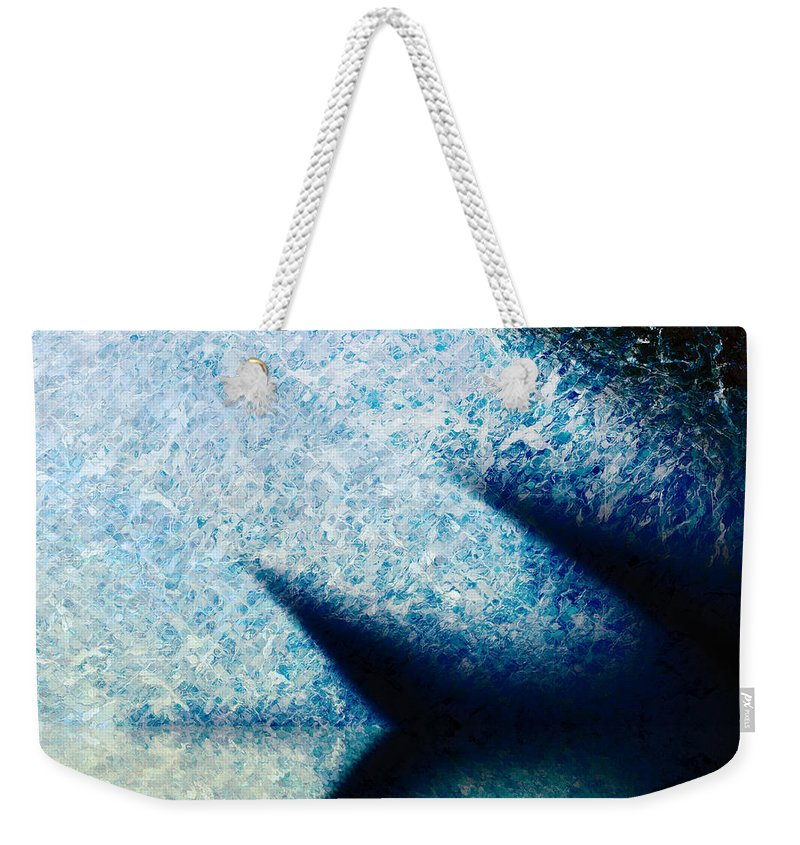 Weekender Tote Bag featuring the painting A Place To Ponder Macro3 by Christopher Gaston