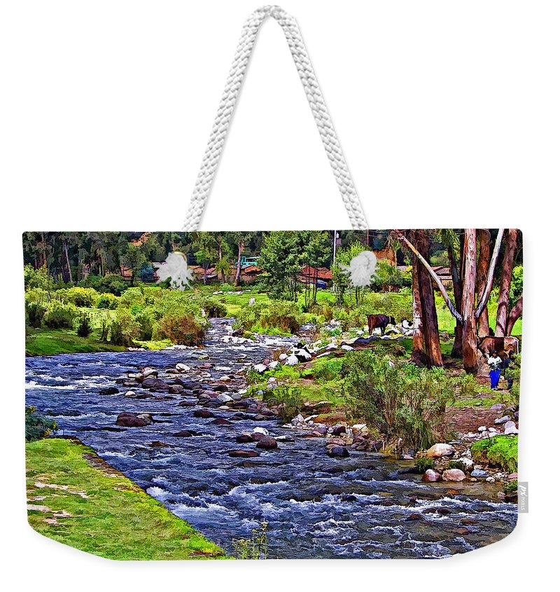 Peru Weekender Tote Bag featuring the photograph A Place Without Time by Steve Harrington