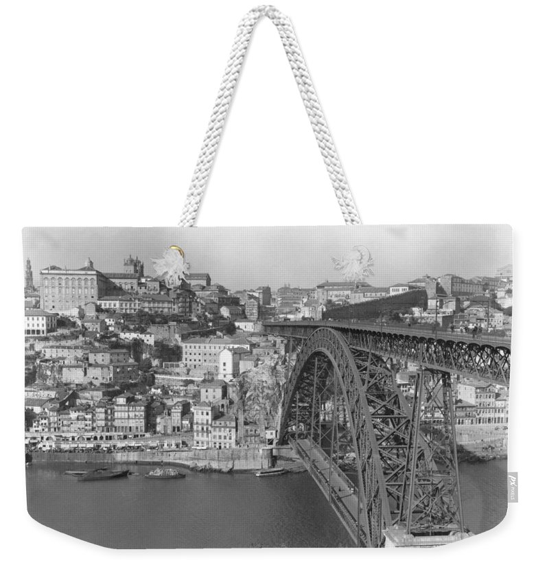 oporto Weekender Tote Bag featuring the photograph A Portion Of Porto And Its Large by W. Robert Moore