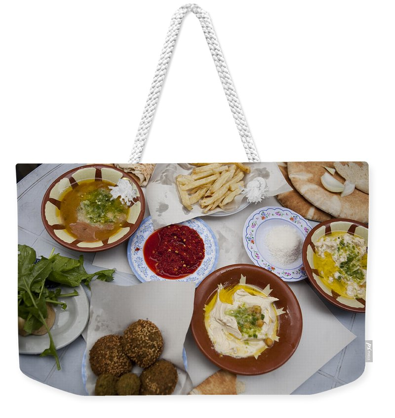 Amman Weekender Tote Bag featuring the photograph A Restaurant In The Old Part by Taylor S. Kennedy