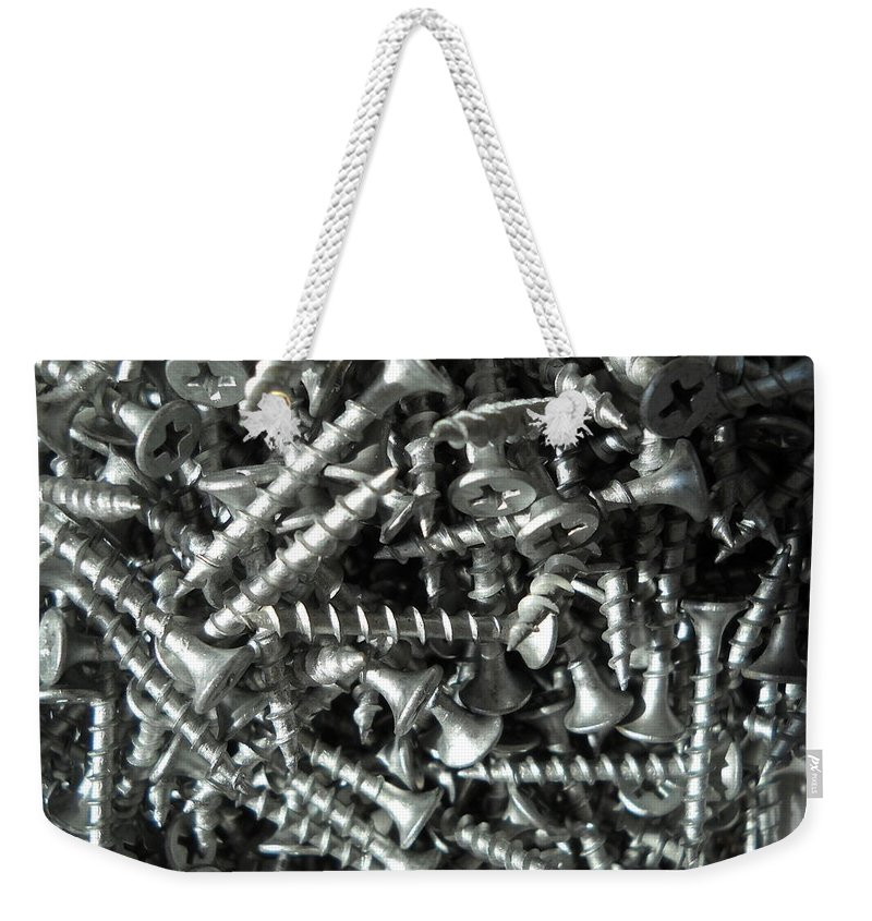 Screws Weekender Tote Bag featuring the photograph A Screwy Photograph by Kent Lorentzen