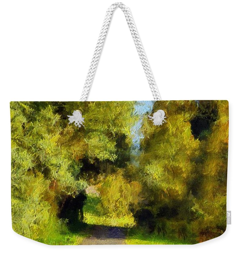 Landscape Weekender Tote Bag featuring the digital art A Walk Amongst Nature by Georgiana Romanovna