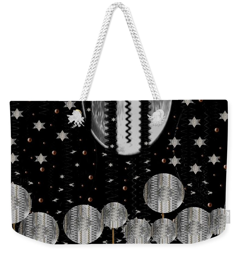 Moon Weekender Tote Bag featuring the mixed media A Wonderful Night by Pepita Selles