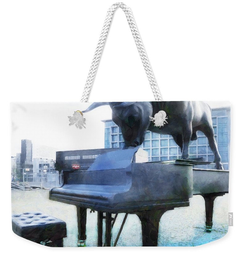 Music Weekender Tote Bag featuring the photograph A World Of Art And Music by Steve Taylor