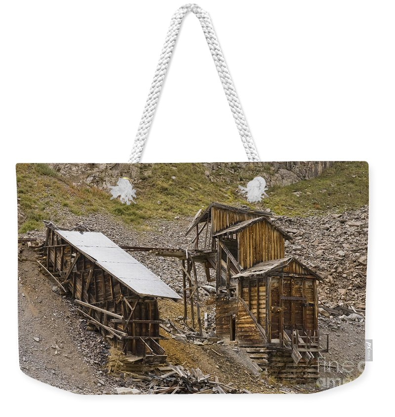 Western Buildings Weekender Tote Bag featuring the photograph Abandoned Mine by Tim Mulina