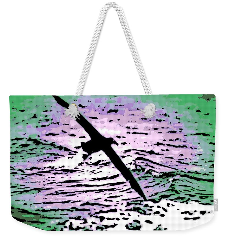 Flight Weekender Tote Bag featuring the photograph Above The Waves by George Pedro