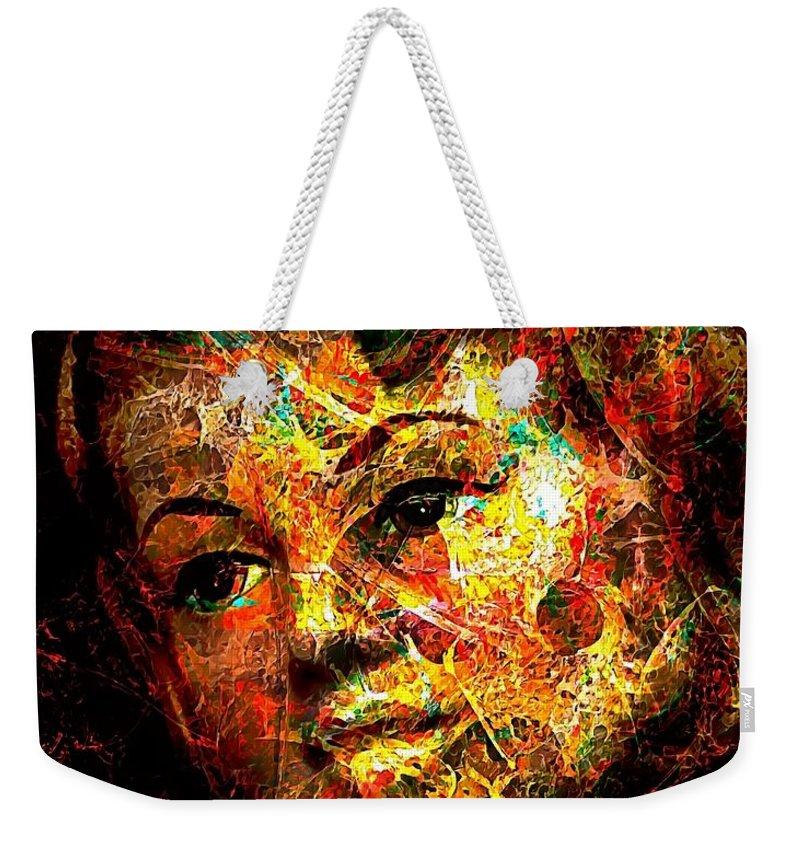 Graphics Weekender Tote Bag featuring the digital art Abs 0363 by Marek Lutek