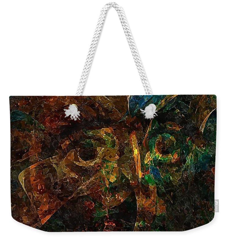 Graphics Weekender Tote Bag featuring the digital art Abs 0364 by Marek Lutek