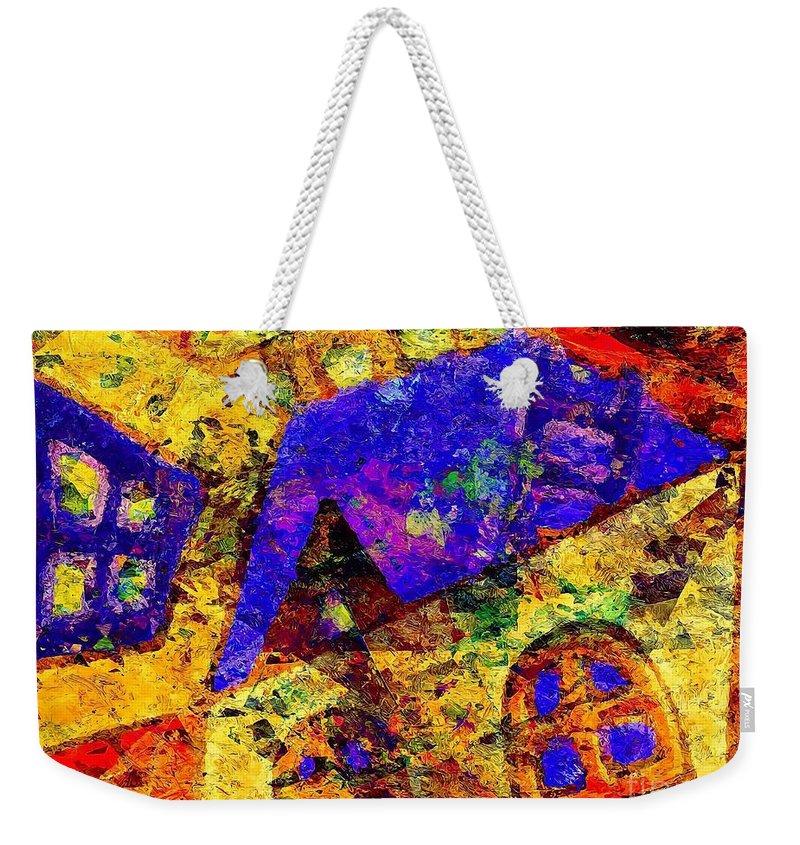 Graphics Weekender Tote Bag featuring the digital art Abs 0435 by Marek Lutek