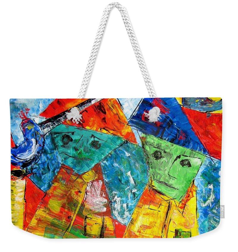 Graphics Weekender Tote Bag featuring the painting Abs 0439 by Marek Lutek
