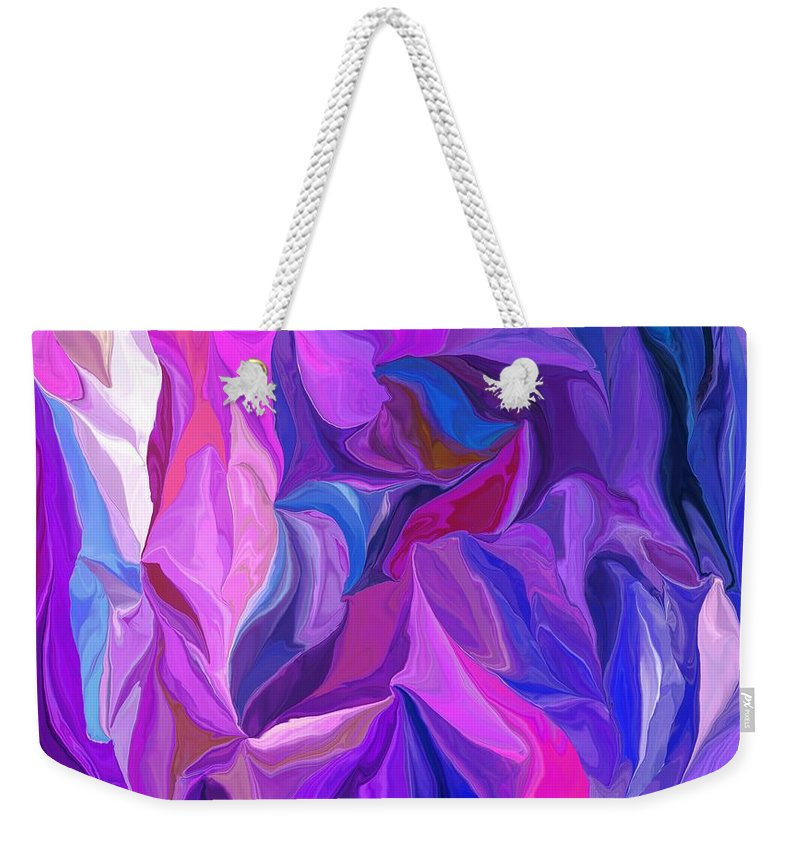 Fine Art Weekender Tote Bag featuring the digital art Abstract 022512 A by David Lane