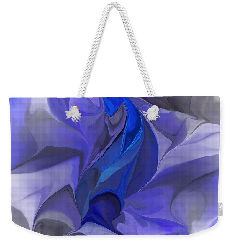 Fine Art Weekender Tote Bag featuring the digital art Abstract 032912a by David Lane