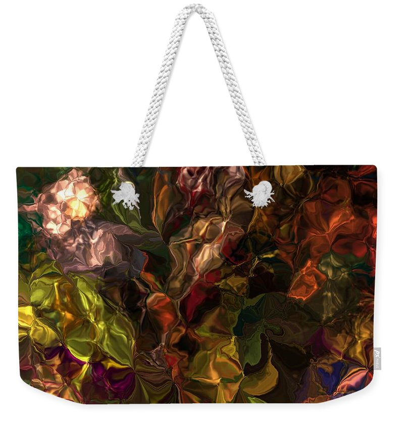 Fine Art Weekender Tote Bag featuring the digital art Abstract 061512 by David Lane