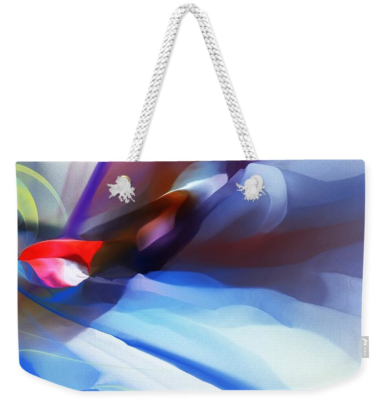 Fine Art Weekender Tote Bag featuring the digital art Abstract 081712 by David Lane