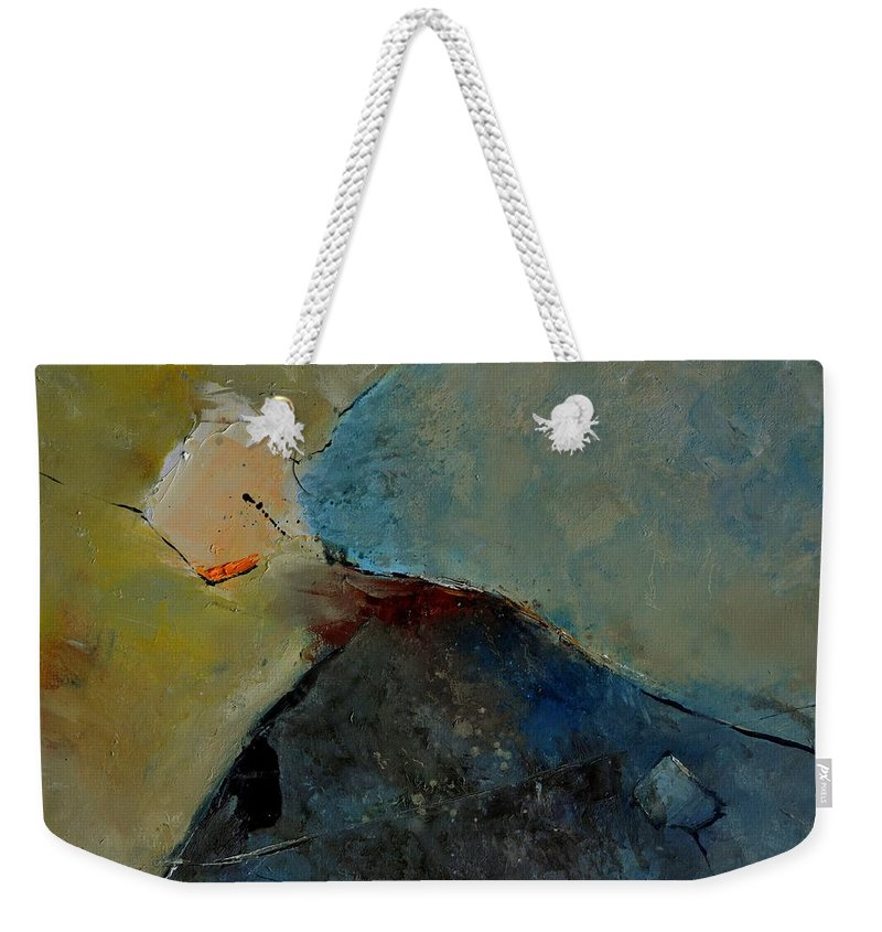 Abstract Weekender Tote Bag featuring the painting Abstract 170006 by Pol Ledent