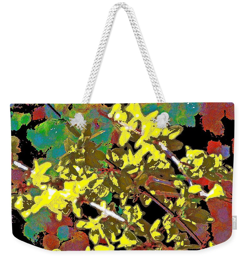 Abstract Weekender Tote Bag featuring the photograph Abstract 216 by Pamela Cooper