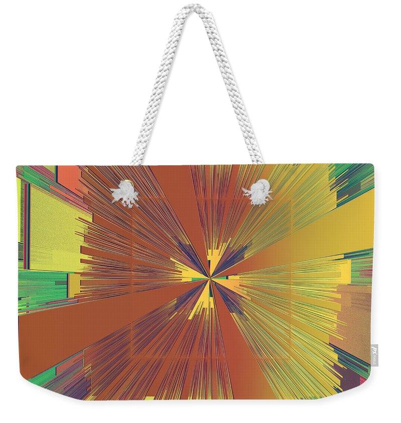 Abstract Weekender Tote Bag featuring the digital art Abstract 4 by Deborah Benoit