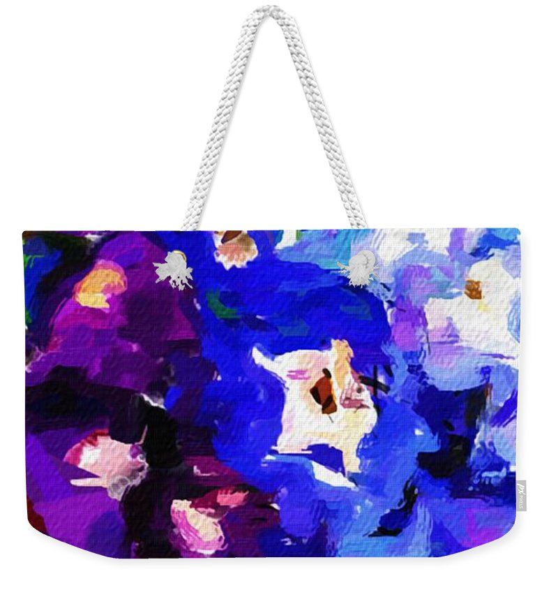 Fine Art Weekender Tote Bag featuring the digital art Abstract Floral 031112 by David Lane