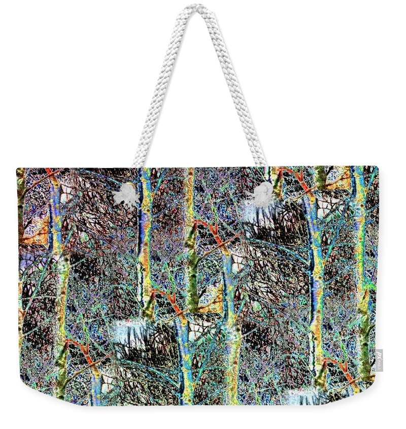 Abstract Fusion Weekender Tote Bag featuring the digital art Abstract Fusion 3 by Will Borden