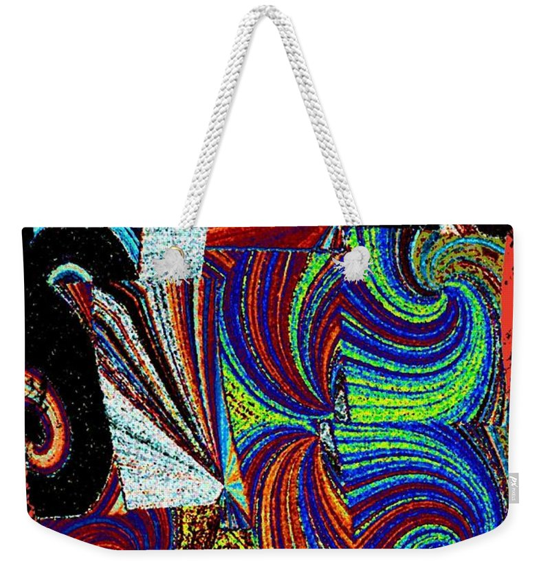 Abstract Fusion Weekender Tote Bag featuring the digital art Abstract Fusion 37 by Will Borden