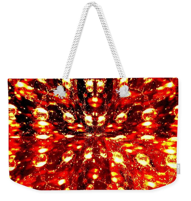 Abstract Fusion Weekender Tote Bag featuring the digital art Abstract Fusion 76 by Will Borden