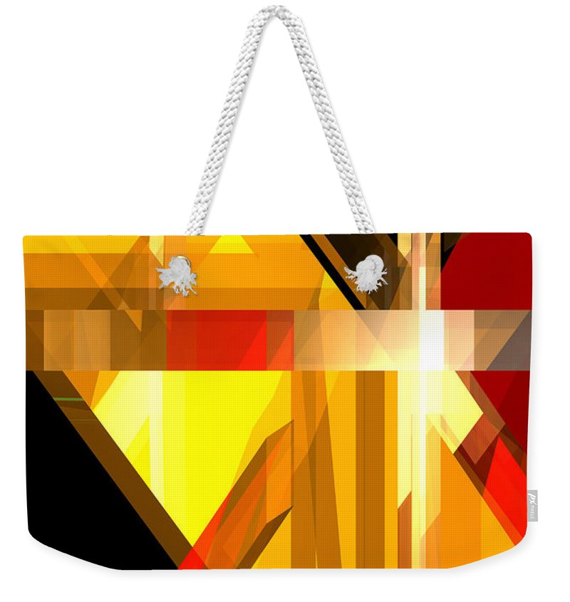 Abstract Weekender Tote Bag featuring the digital art Abstract Tan 5 by Russell Kightley