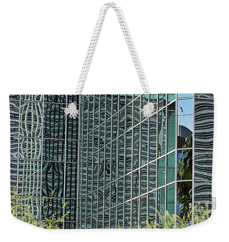 City Weekender Tote Bag featuring the photograph Abstract Walls by Phyllis Denton
