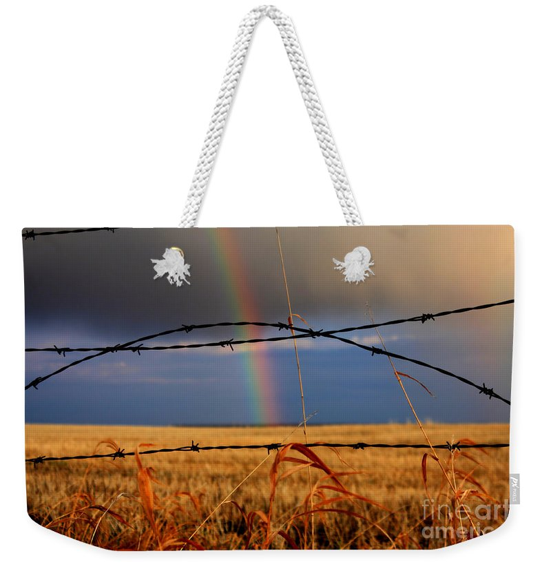 Rainbow Weekender Tote Bag featuring the photograph Access Denied by James Anderson