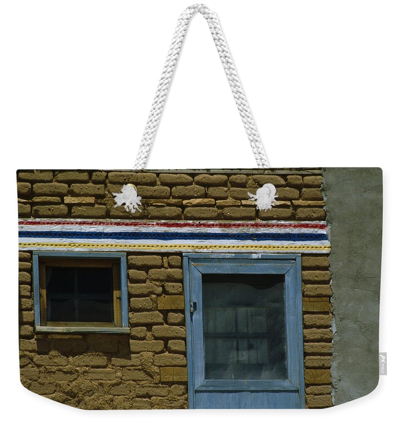 Acoma Weekender Tote Bag featuring the photograph Acoma Accent by Jerry McElroy