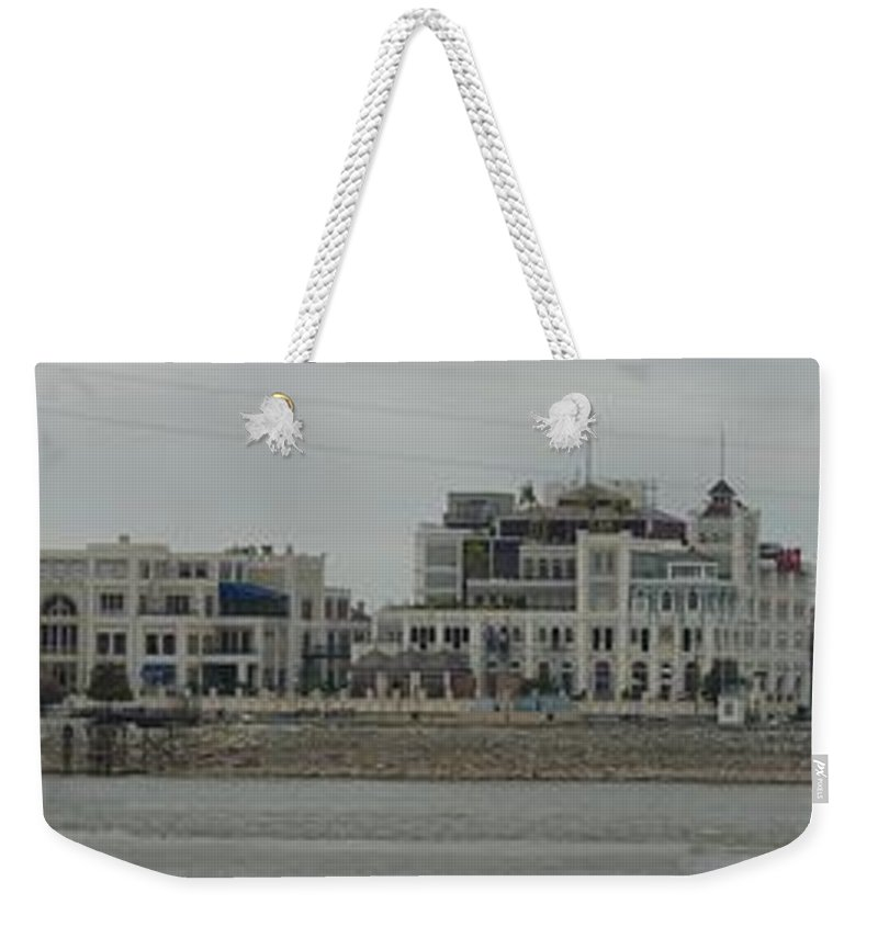 Cityscape Weekender Tote Bag featuring the photograph Across The Mississippi by Anthony Walker Sr