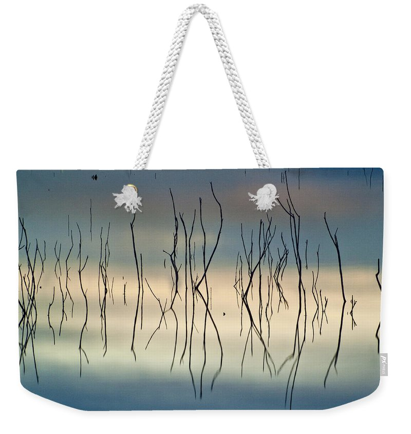 Sunrise Weekender Tote Bag featuring the photograph Acuatic Graphics by Guido Montanes Castillo