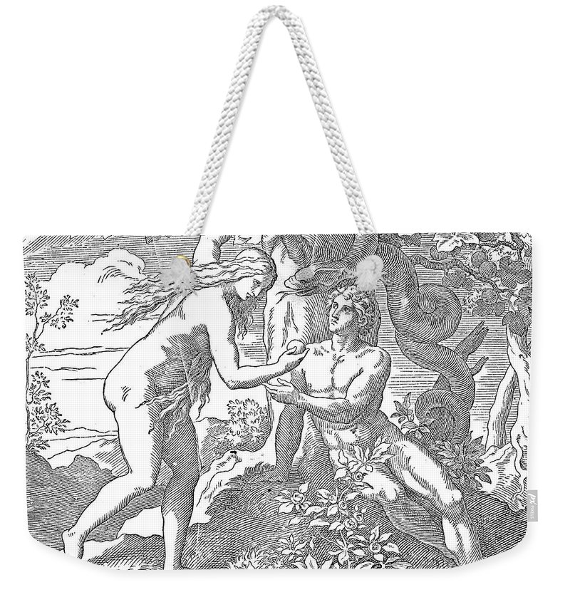 Adam Weekender Tote Bag featuring the photograph Adam & Eve by Granger