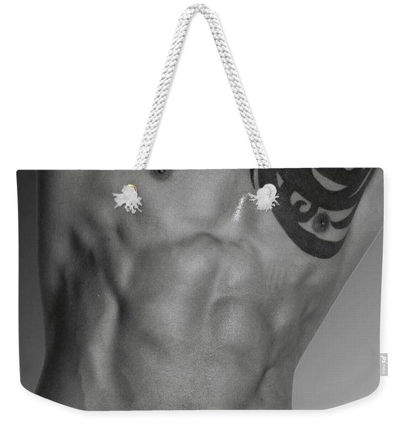 Body Weekender Tote Bag featuring the photograph Adam 4 by Mark Ashkenazi
