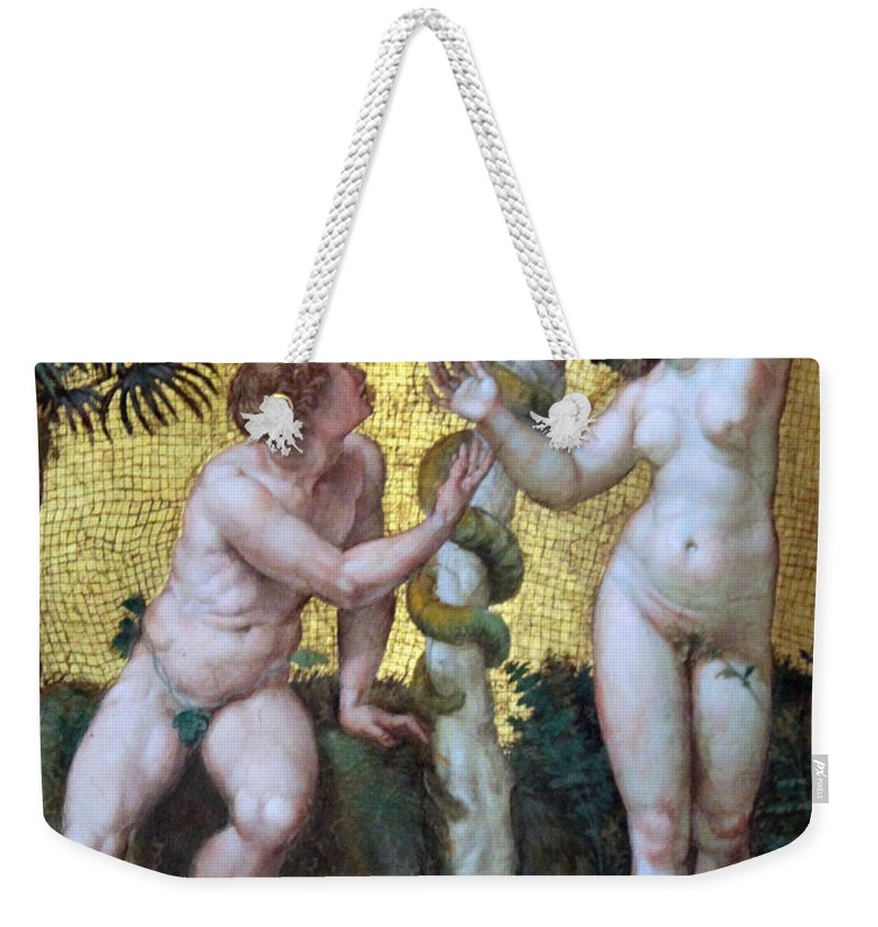 Adam Weekender Tote Bag featuring the photograph Adam And Eve by Munir Alawi