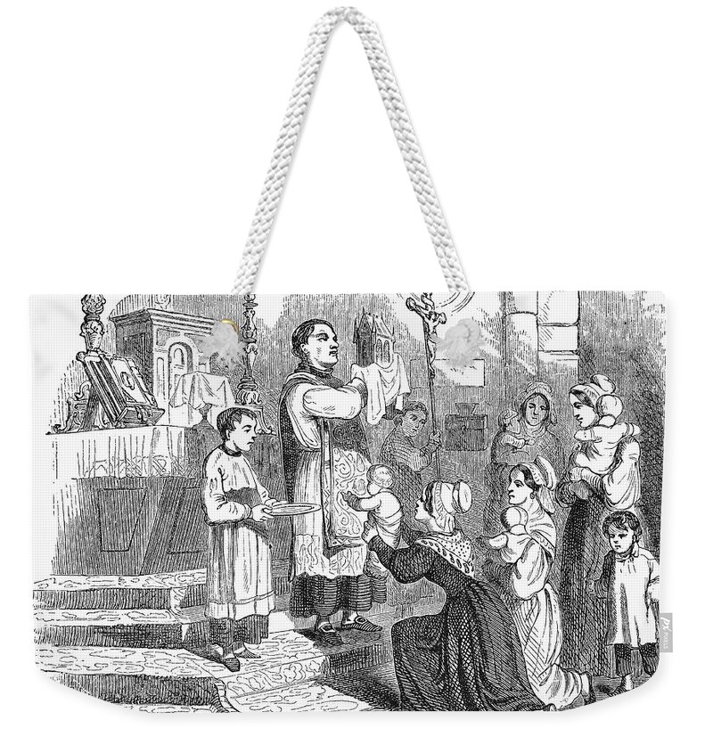 Adoration Weekender Tote Bag featuring the photograph Adoration Of Relics by Granger