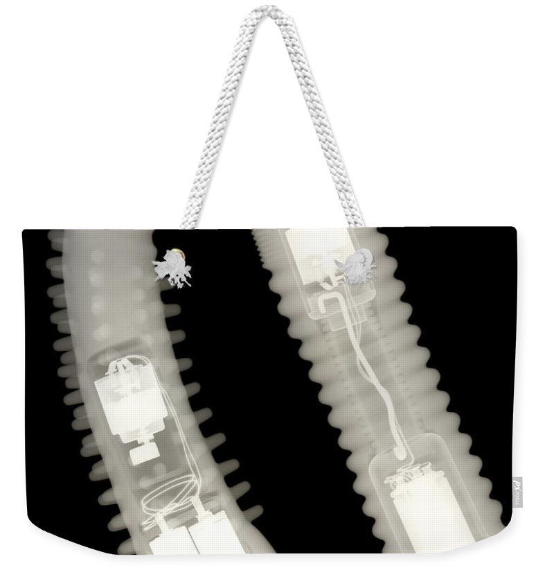 Xray Weekender Tote Bag featuring the photograph Adult Sex Toys by Ted Kinsman