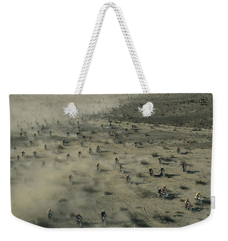 Scenes And Views Weekender Tote Bag featuring the photograph Aerial View Of Hundreds by Walter Meayers Edwards