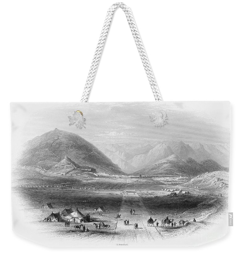 1839 Weekender Tote Bag featuring the photograph Afghan War 1839-1842. For Licensing Requests Visit Granger.com by Granger