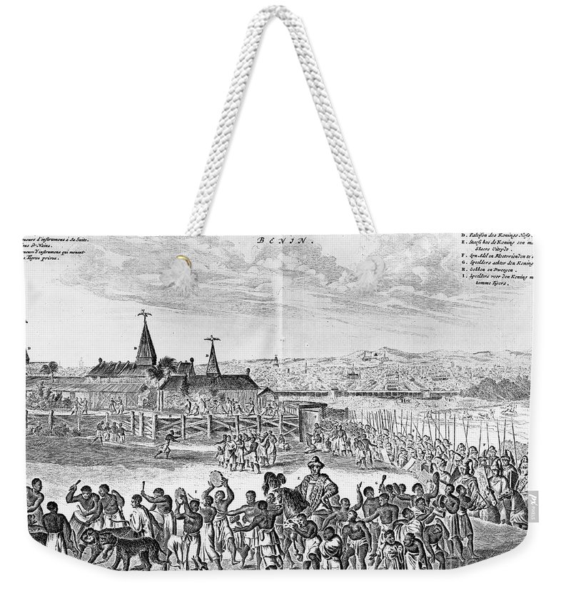 1686 Weekender Tote Bag featuring the photograph Africa: Benin City, 1686 by Granger