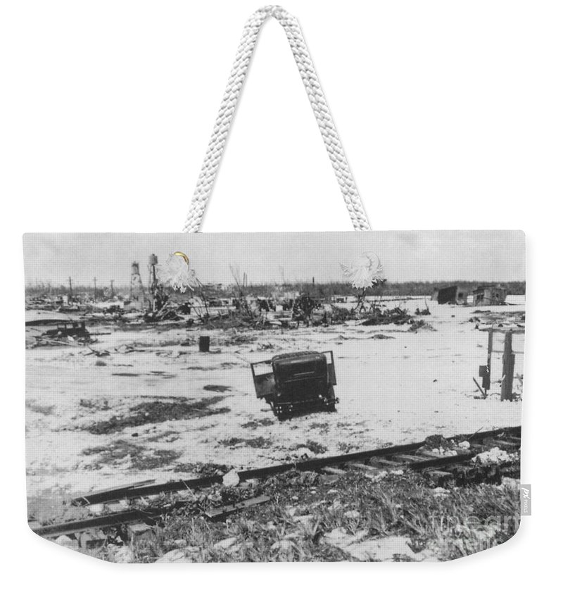 After 1935 Labor Day Hurricane 2 Of 2 Weekender Tote Bag