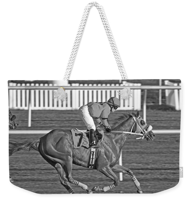 Horse Weekender Tote Bag featuring the photograph After The Crossing by Betsy Knapp