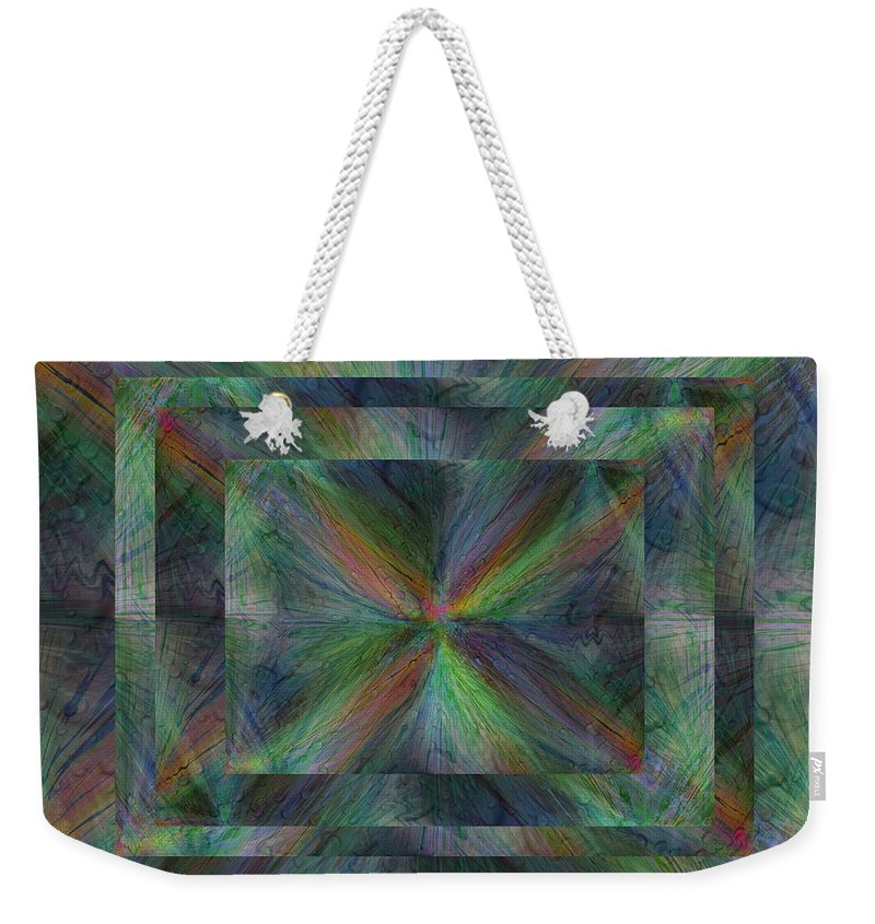 Abstract Weekender Tote Bag featuring the digital art After The Rain 9 by Tim Allen