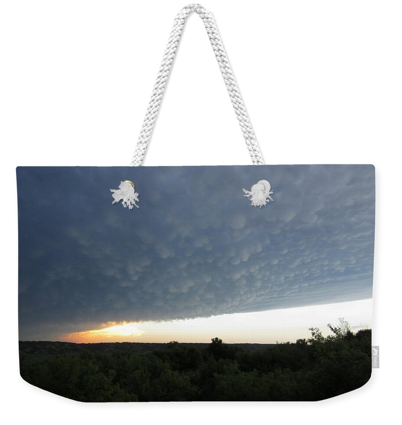 Tornado Weekender Tote Bag featuring the photograph After The Tornado by Andrea Lawrence