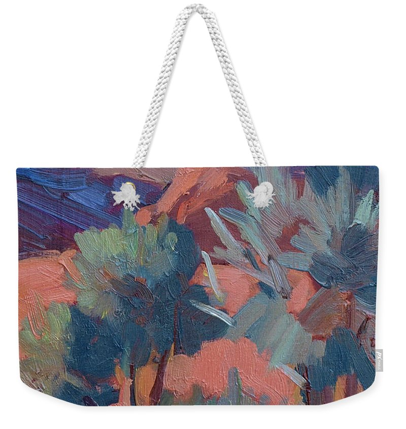Afternoon Light Weekender Tote Bag featuring the painting Afternoon Light - Santa Rosa Mountains by Diane McClary